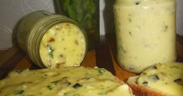 Плавленый домашний сыр с шам…