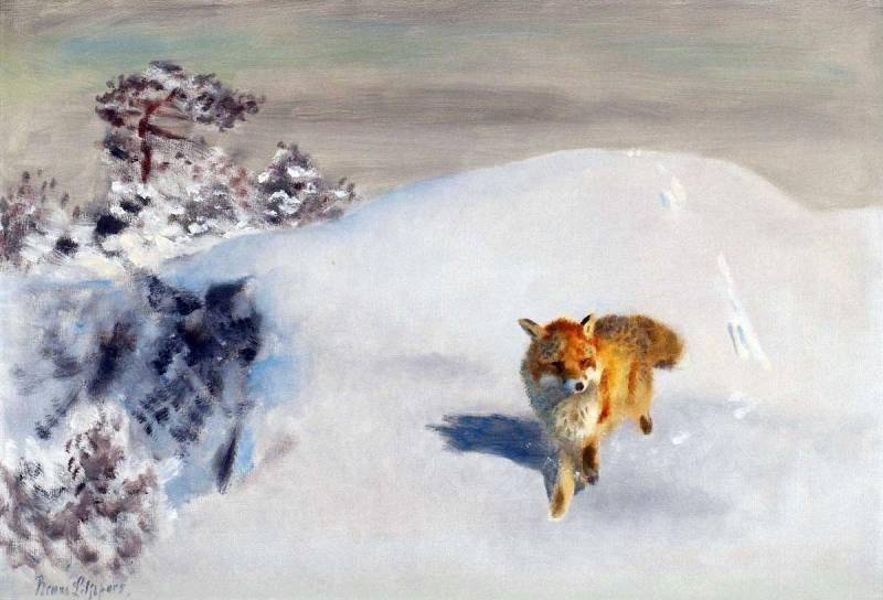 Вот зверь бежит легко, упруго… Шведский художник Bruno Liljefors