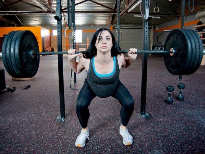 Упражнение для беременных в спортзале 100