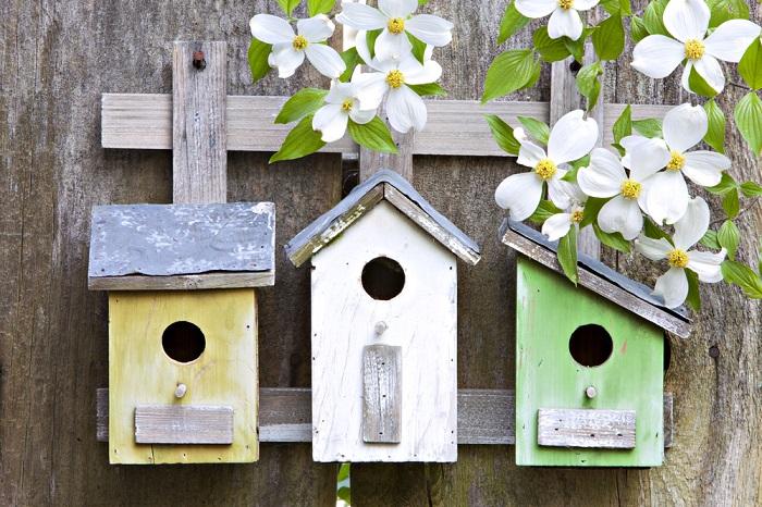 11 идей декоративных скворечников для украшения интерьера и сада
