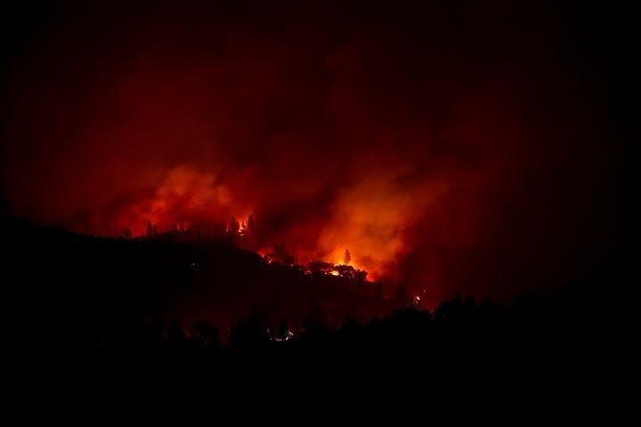 Жители Калифорнии делятся в сети видео самого разрушительного пожара в истории штата