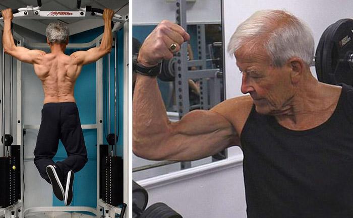 Дедушки в спортзалах: бывшие бодибилдеры поражают своей физической формой даже в пенсионном возрасте
