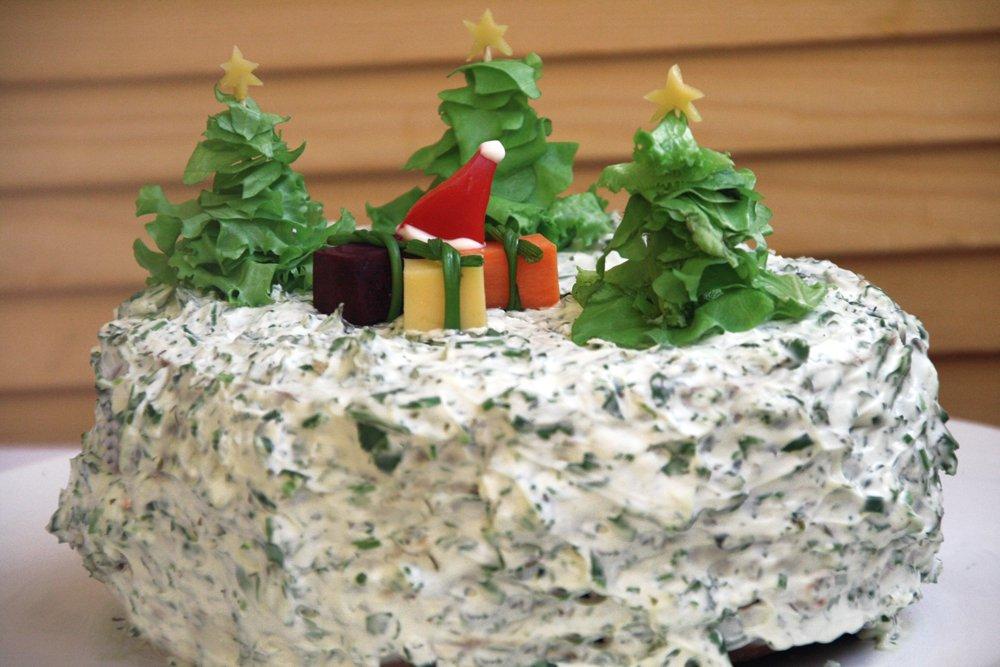 фотографии и рецепты салатов, тортов к новому году
