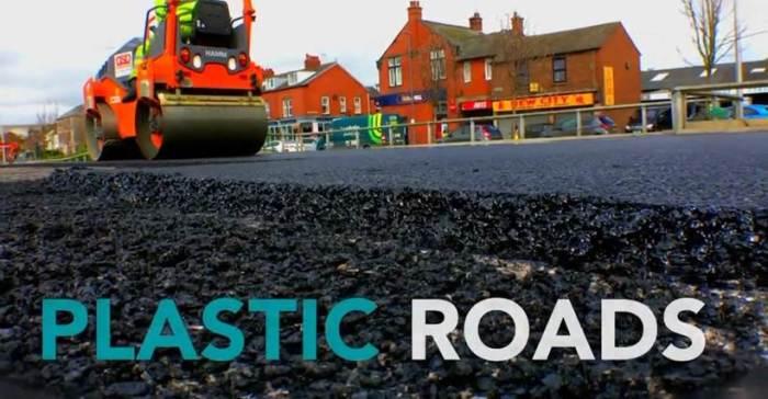 Борьба за экологию: дороги из пластика