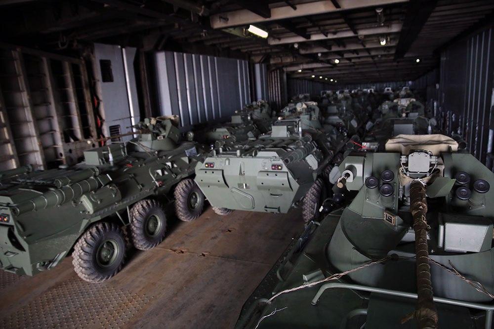 Очередная партия бронетранспортеров БТР-82А  поставлена в Азербайджан из России