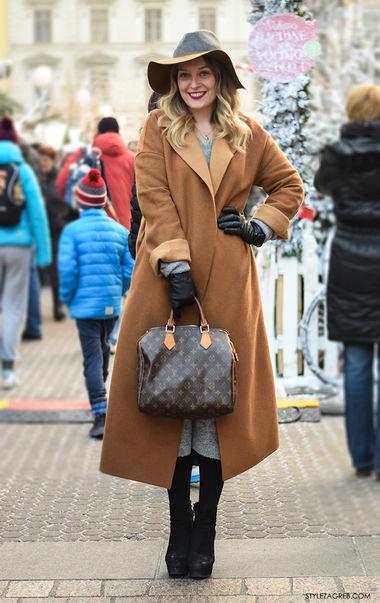 с каким пальто правильно носить женскую шляпу доставка