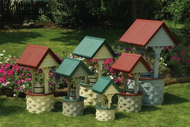 Колодцы декоративные на даче своими руками