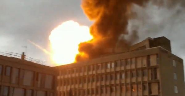 Опубликовано видео взрыва во…