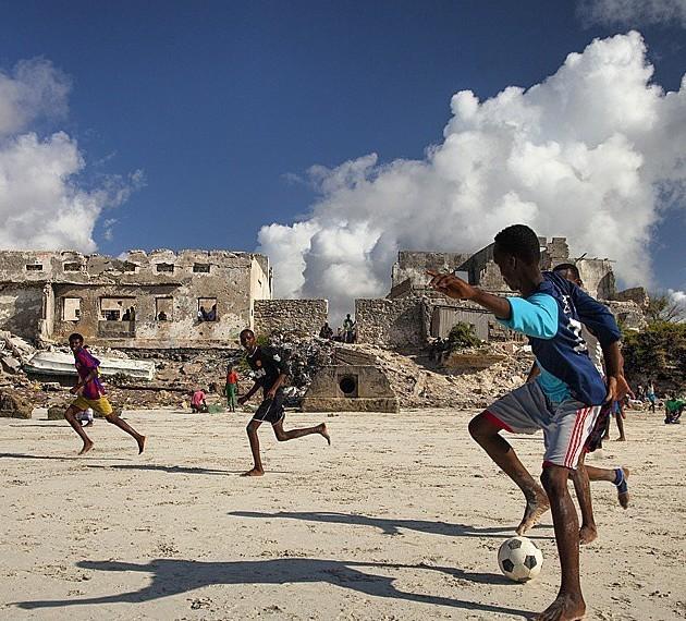 Самым любимым видом спорта является футбол Могадишо, жители Сомали, сомали
