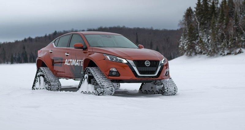 Гусеничный седан Nissan Altima - мечта россиян