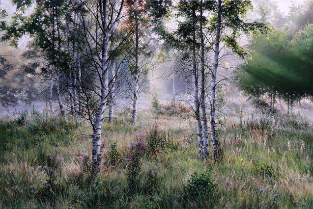 Лирика природы —  закутанные в легкую дымку пейзажи художника Олега Соколовского
