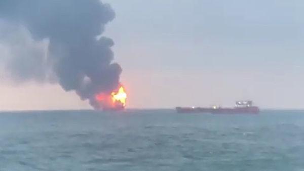 В Керченском проливе загорел…
