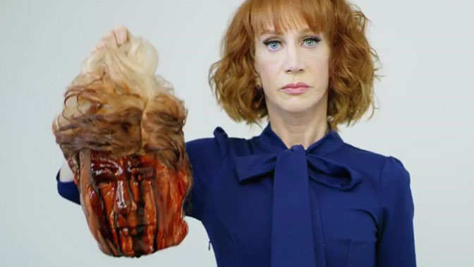 """Снявшуюся с """"отрубленной головой"""" Трампа актрису допросила Секретная служба"""