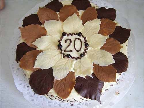 Шоколадные листочки для украшения торта своими руками