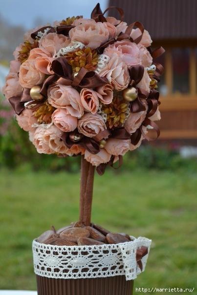 Как сделать дерево с цветами