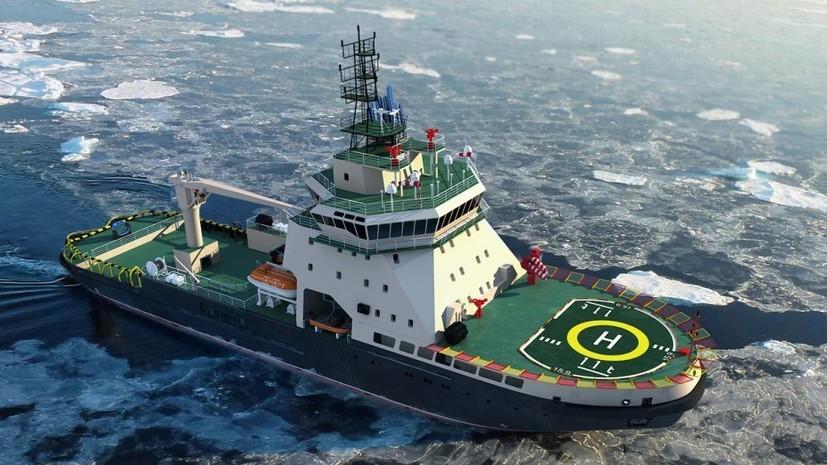 Первый за 45 лет ледокол для ВМФ РФ «Илья Муромец» спустили на воду в Санкт-Петербурге