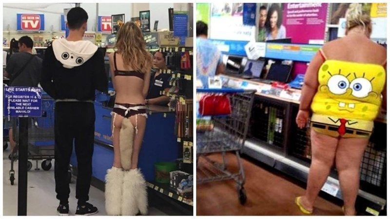 О дивный новый мир: 18 покупателей магазина Walmart walmart, walmart покупатели, вот это да!, покупатели, приколы, странные люди