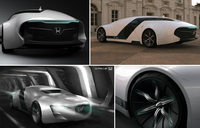 Седан будущего от Honda, созданный по мотивам дирижаблей (видео)