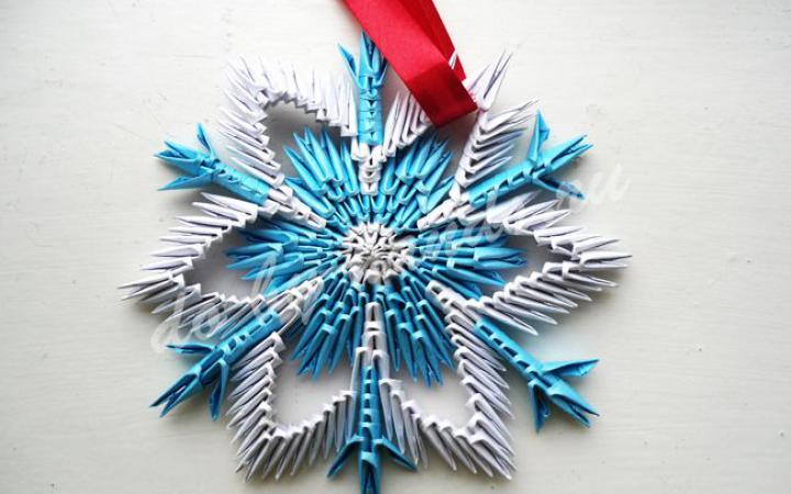 Картинки по запроÑу Снежинка из бумаги. Ðовогодние поделки оригами
