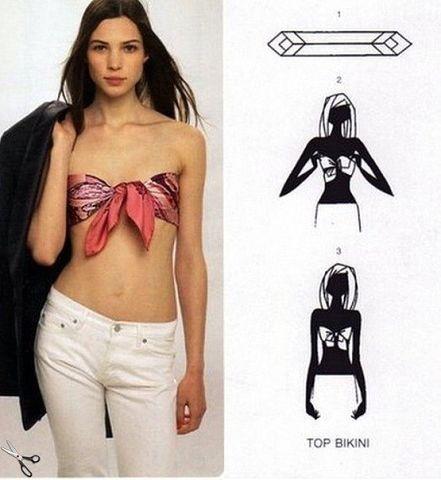 как можно носить платки вместо летних топов