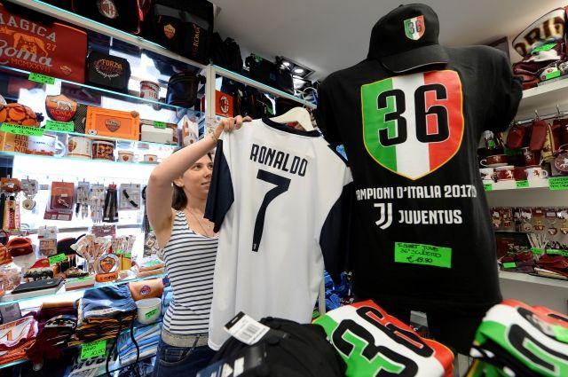 ФК «Ювентус» за день продал футболки с Роналду на 55 млн евро
