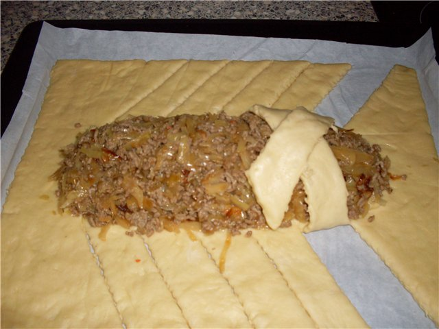 Пирог крокодил и рецепт с