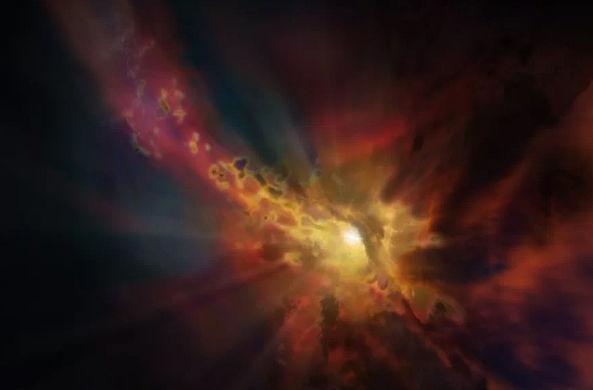 Ученые поймали ветер из ранней галактики