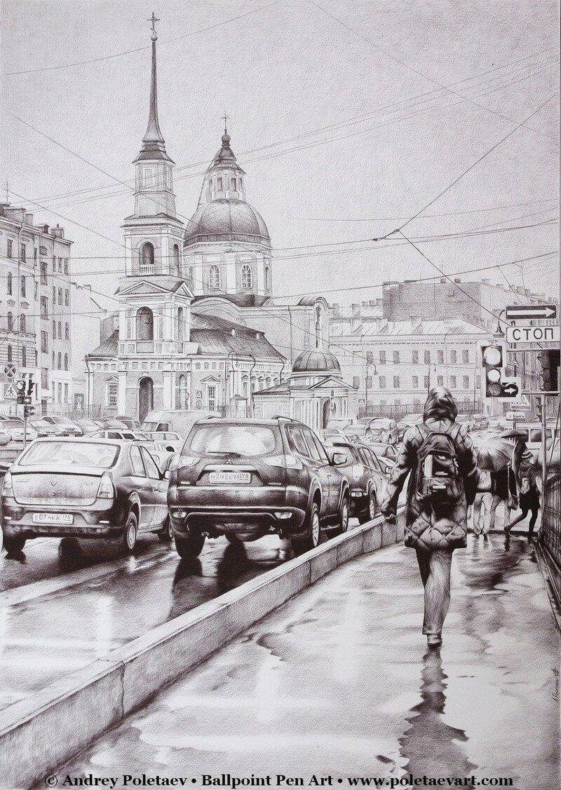 Фотореалистичная живопись шариковой ручкой от Андрея Полетаева Ballpoint Pen Art, живопись, рисунки