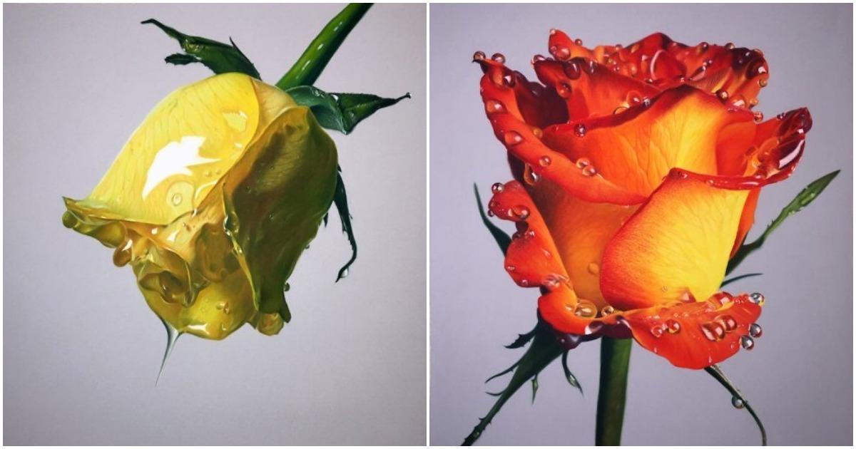 Необычайной красоты цветы, залитые медом