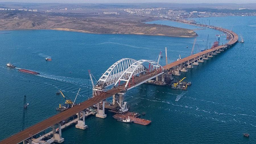 Минтранс показал первое фото готового участка Крымского моста