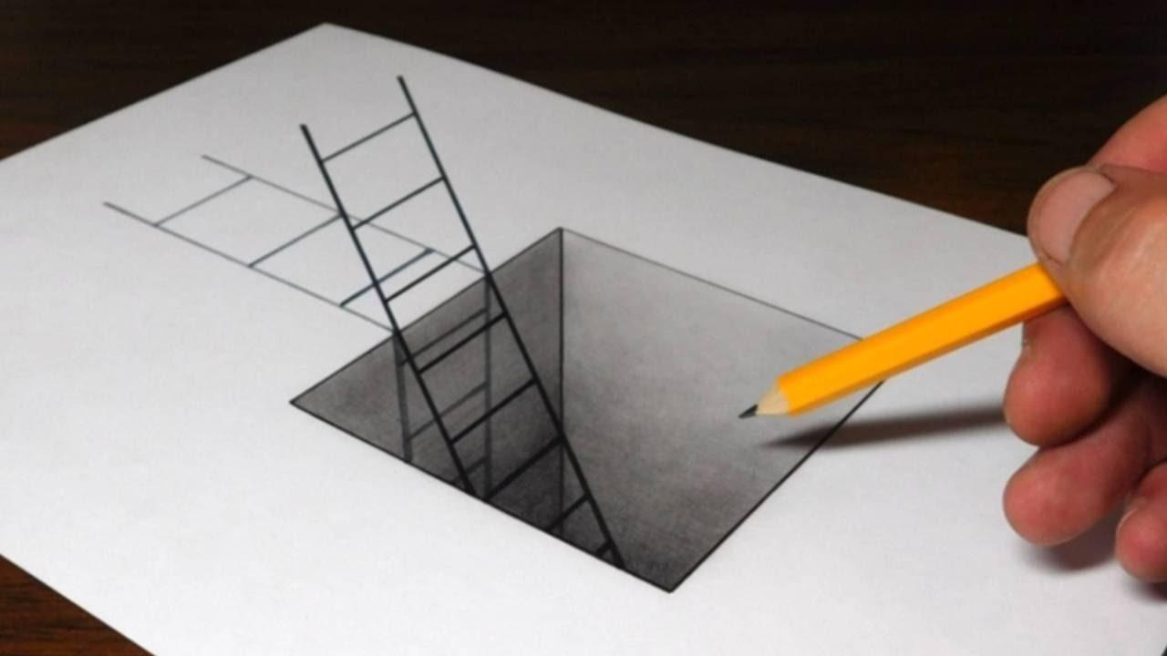 Научиться рисовать рисунки на бумаги в 3д