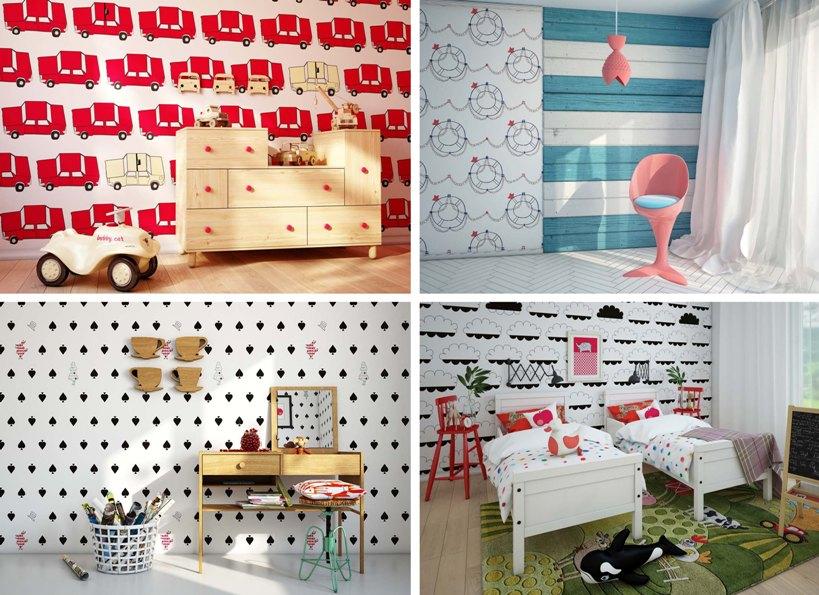Милый дизайн комнат для малышей