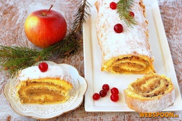 Шарлотка из яблок с корицей рецепт