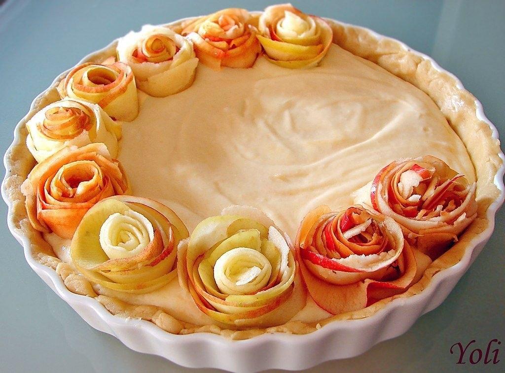 313Открытый пирог с яблоками из слоеного теста рецепт