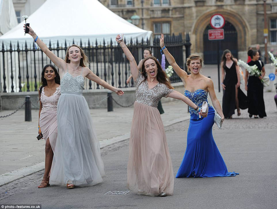 Ready to party: Guest kicked off proceedings in style as they joined 1,800 students celebrating the end of exam season