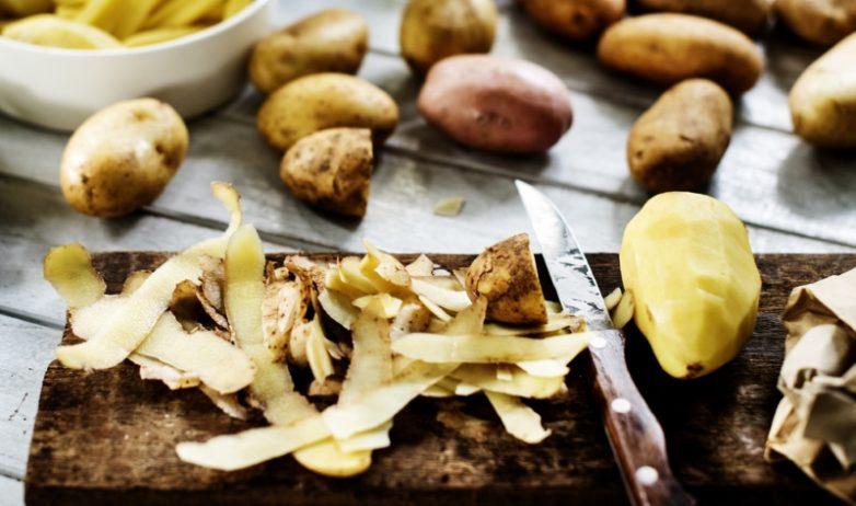 Польза картофельных очистков