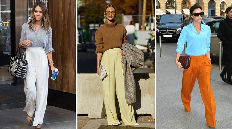 брюки палаццо женские