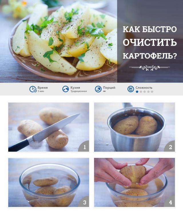 как чистить картофель