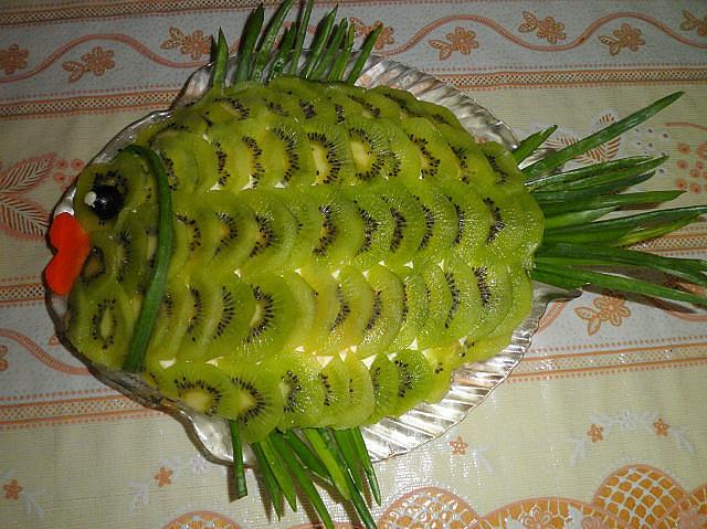 салат черепаха с киви фото
