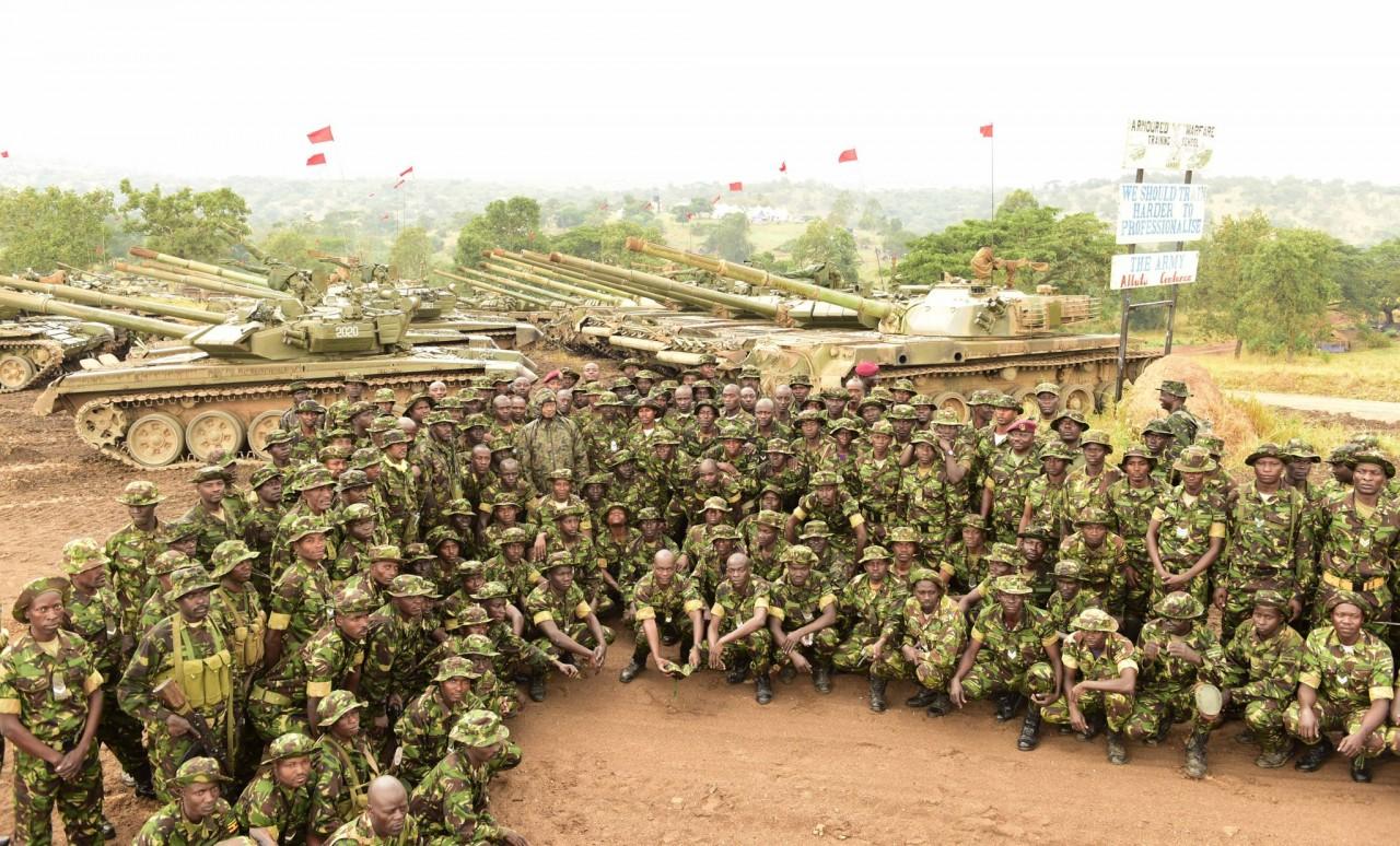 Танки Т-90С вооруженных сил Уганды