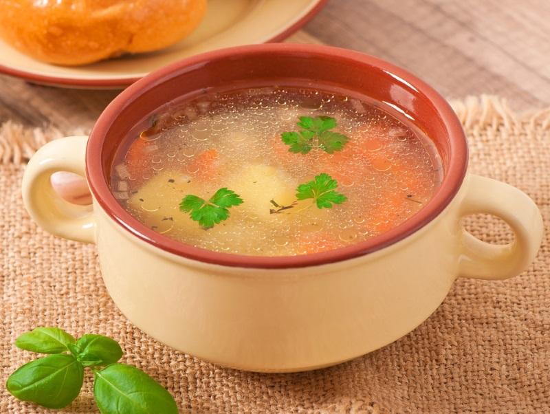 суп с клецками вкусный