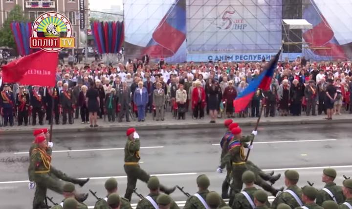 Парад Победы и «Бессмертный полк»! г. Донецк