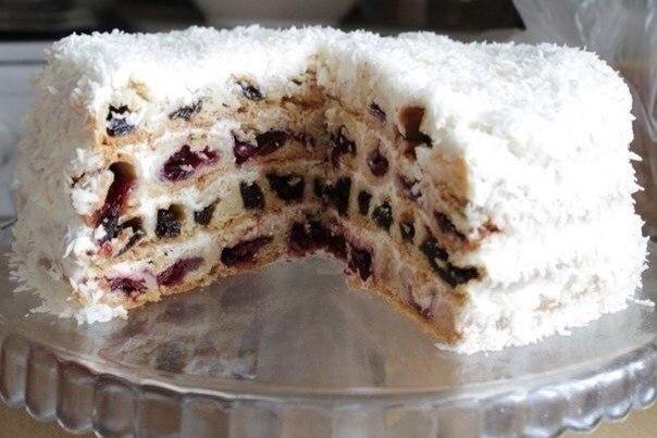 Торт «Вишня в снегу». Шедевр кулинарии