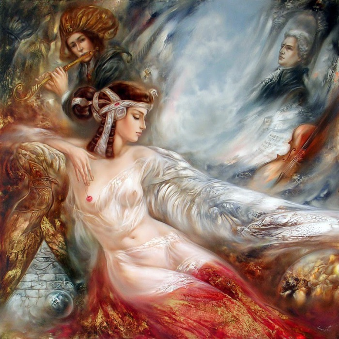 Очаровательные женские образы в работах литовского художника