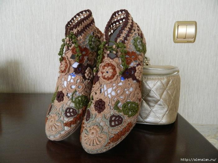 Обувь крючком - ручная работа. Неописуемая красота!