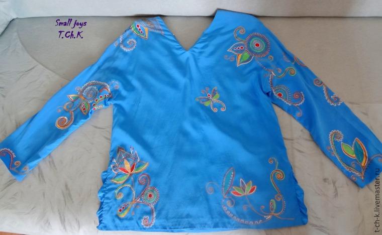 Мастер-класс по точечной росписи шелковой блузки