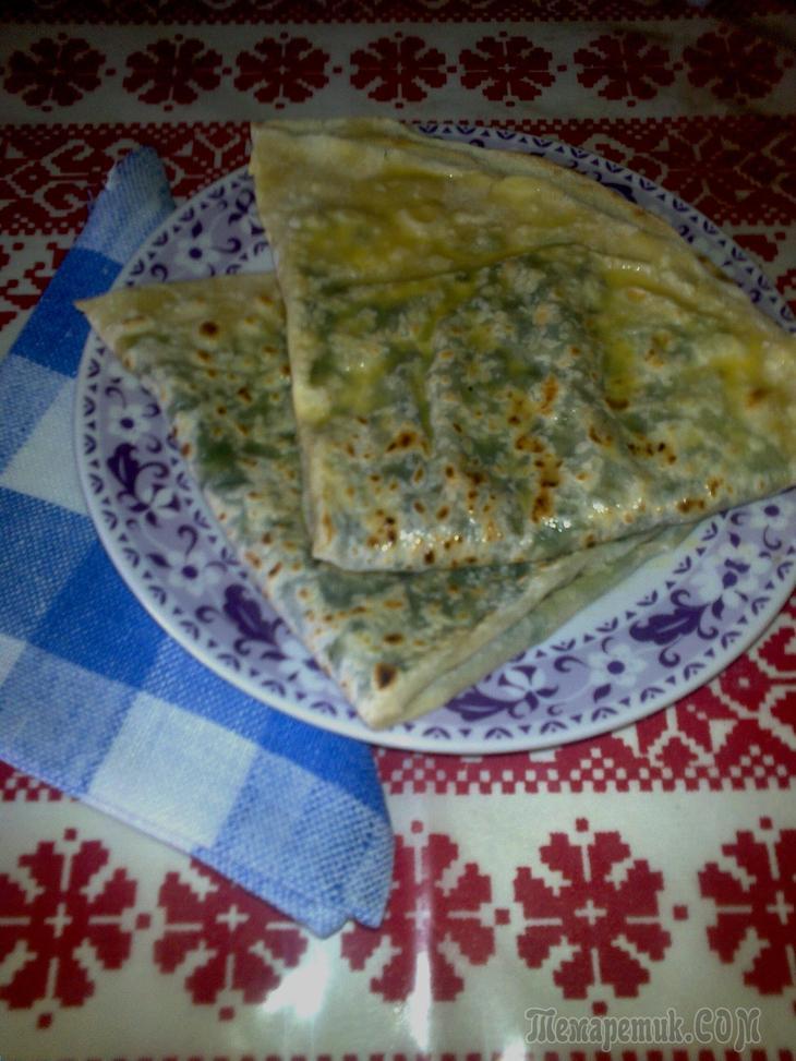 Кутабы азербайджанские с зеленью - сочные и простые в приготовлении