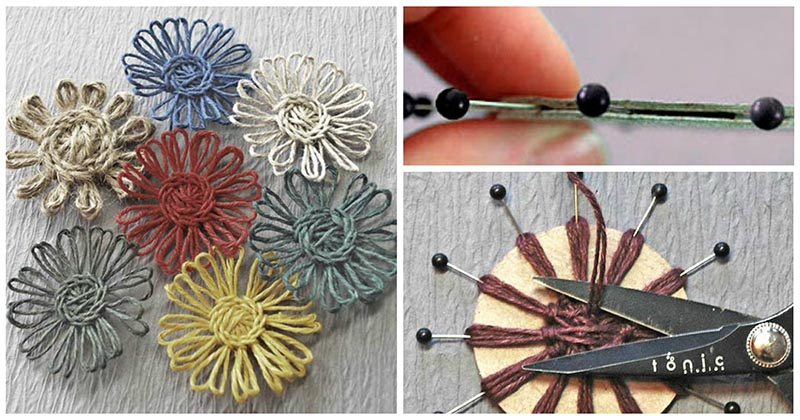 Создаём легко и просто цветы из пряжи и бечёвки, которые не распускаются