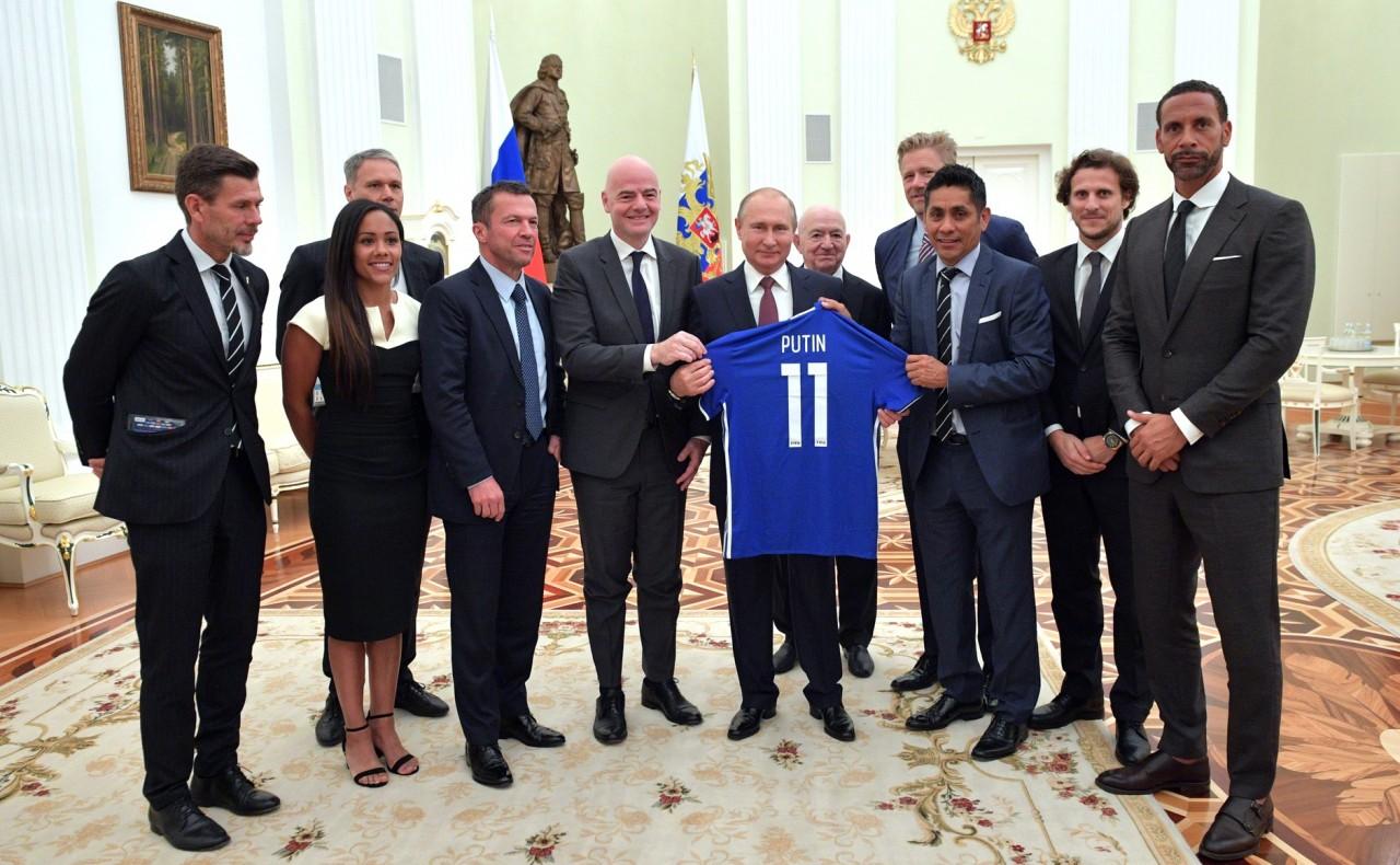 Встреча с легендами мирового футбола 6 июля 2018 года