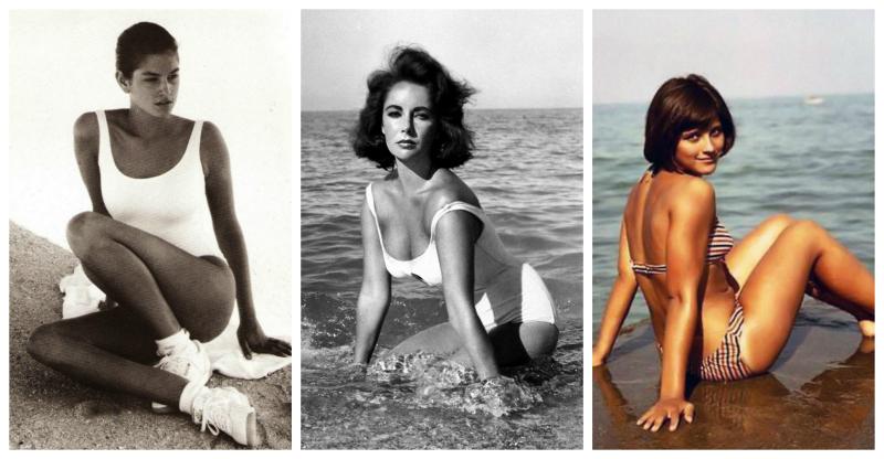 Да здравствует лето! Винтажные фото знаменитых красавиц на пляже